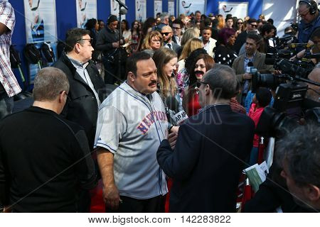 NEW YORK-APR 11: Actor Kevin James is interviewed at the world premiere of