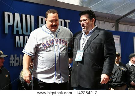 NEW YORK-APR 11: Director Andy Fickman (R) and actor Kevin James attend the world premiere of