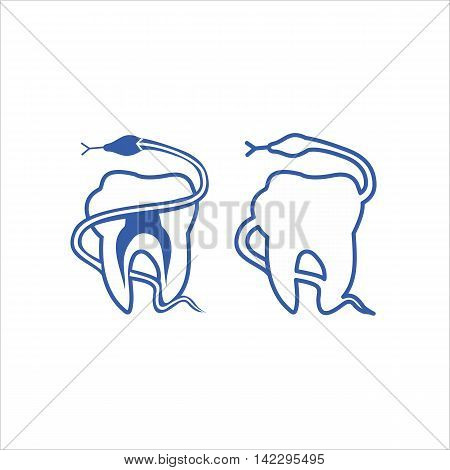 Teeth dentistry medical line icons. Instrument dentistry medical dentistry medical stomatology equipment dentistry medical dental protection. Vector illustration