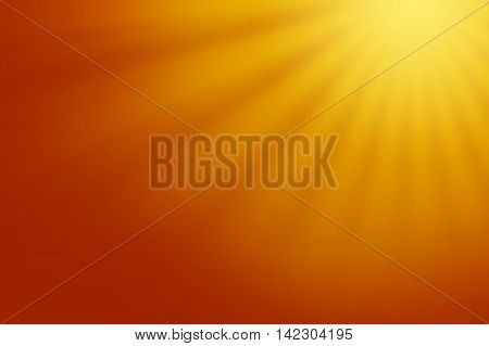 Shining abstract golden background with warm sunrays