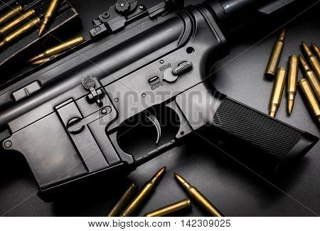 M4A1 assault rifle on black background
