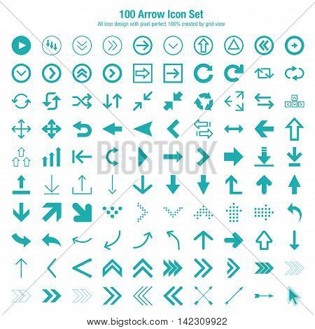 Arrow Icon Set Design. Easy to manipulate, re-size or colorize.