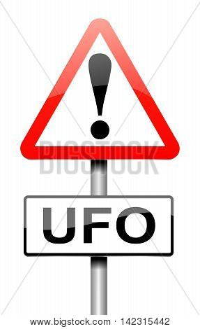 Ufo Sign Concept.