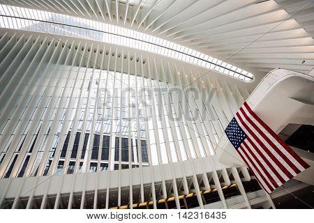 Oculus World Trade Center Transportation Hub In Nyc