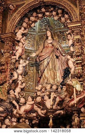 Mother Mary And Angels - Loreto Church In Lisbon