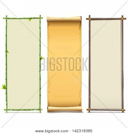 Vector Boards Set 8 isolated on white background