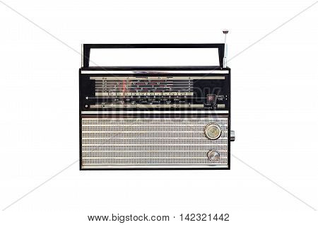 Retro radio frequency scale isolated on white background