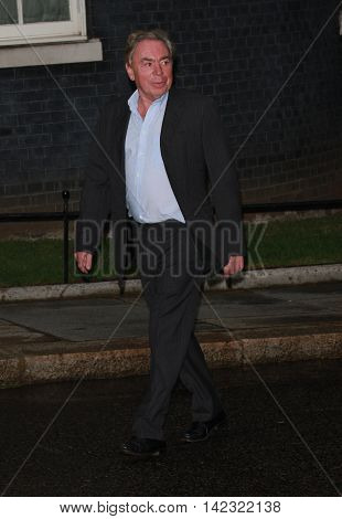 LONDON, UK, JUN 30, 2014: Andrew Lloyd Webber attends the Best of Britain's Creative Industries reception at 10 Downing street