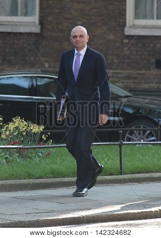 LONDON, UK, MAY 17, 2015: Sajid Javid MP arrives for a Cabinet meeting at Downing Street