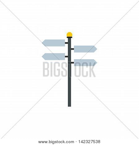 Blank road signs icon in flat style on a white background