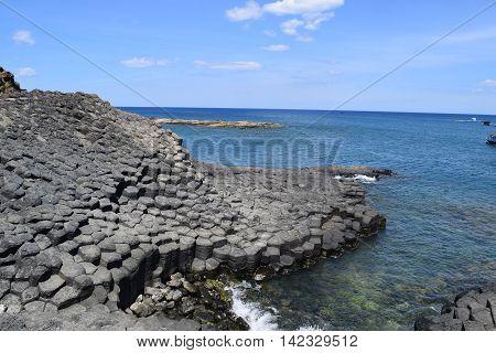 Vietnamese Natural Heritage Ganh Da Dia Sea In Tuy Hoa, Phu Yen