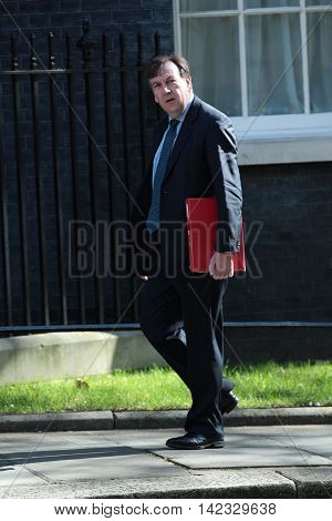 LONDON, UK,  MAY 3, 2016: John Whittingdale MP seen arriving in Downing Street