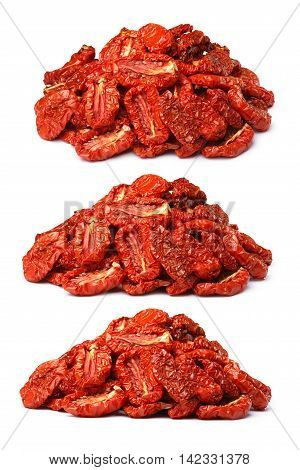 Pile Of Sundried Tomatoes, Three View Angles, Paths