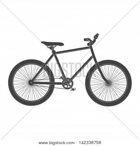 MTB black Bicycle isolated. bike for tricks.
