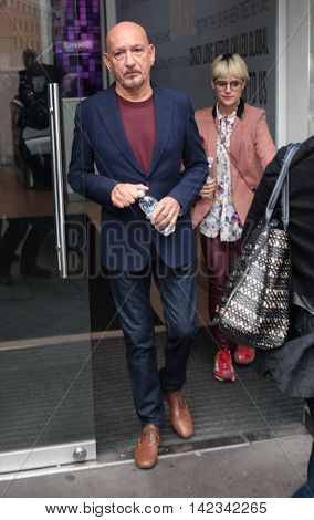 LONDON, UK, JUNE 3, 2016: Sir Ben Kingsley seen at Global media radio picture taken from the street