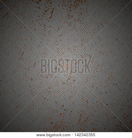 Black diamond plate texture background. Dark Grunge Metallic Background.