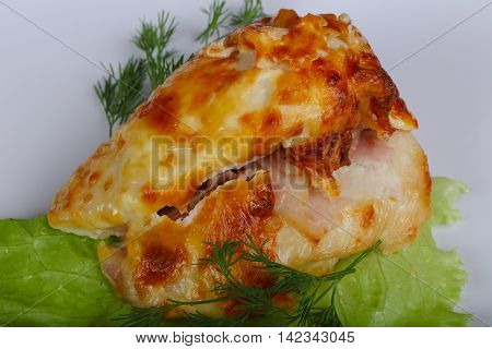 Chicken Breast Baked With Cheese
