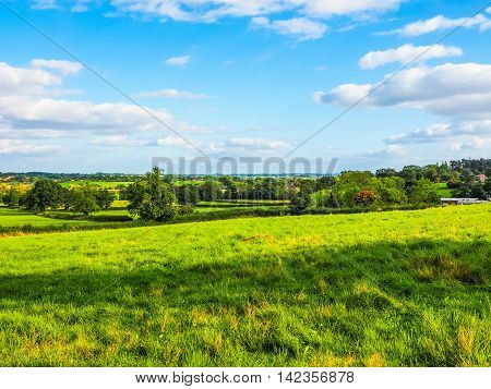 High dynamic range HDR English countryside in Tanworth in Arden Warwickshire UK poster