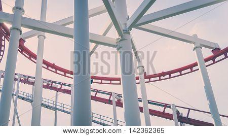 Metal Roller Coaster Foundation Frame vitnage tone
