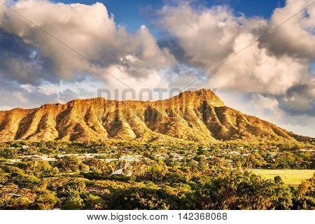 Diamond Head In Honolulu, Hawaii