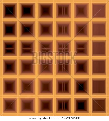 square waffle cell six by six background