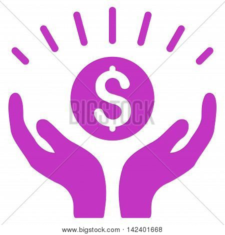 Prosperity icon. Vector style is flat iconic symbol with rounded angles, violet color, white background.