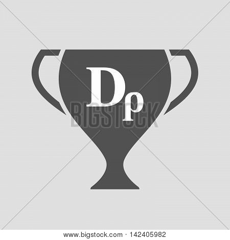 Isolated Award Cup Icon With A Drachma Currency Sign