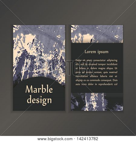Abstract Creative Card Templates. Weddings, Menu, Invitations, Birthday, Business Cards With Marble