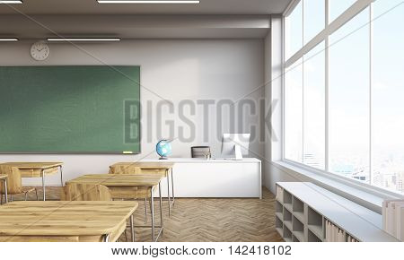 Classroom With Panoramic Window
