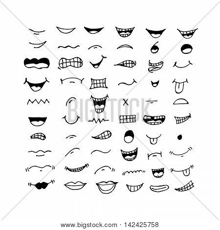 an images of cartoon mouth icon Illustration design