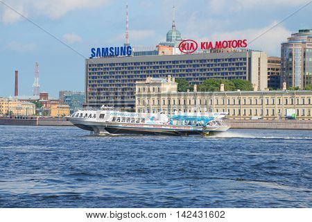 ST. PETERSBURG, RUSSIA - JULY 28, 2016: Hydrofoil