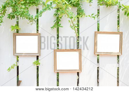 photo frame on the fences great for your design