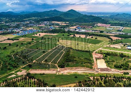 Land Development Farming and Agriculture in Thailand aerial photo