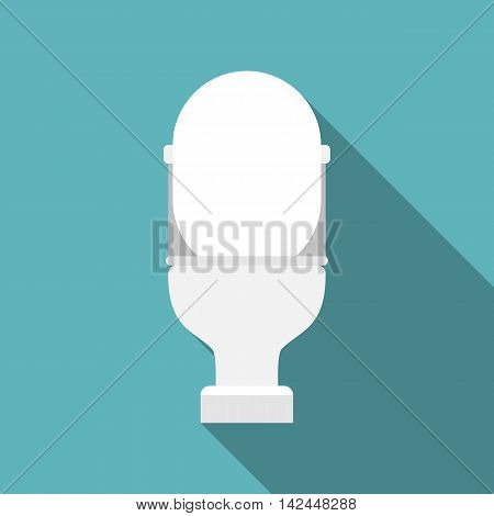 Vector open toilet seat, flat design with long shadow