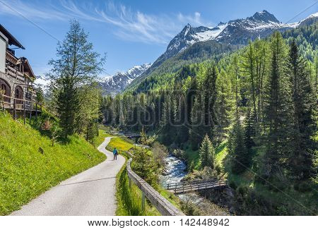 Hiking Trail In South Tyrol