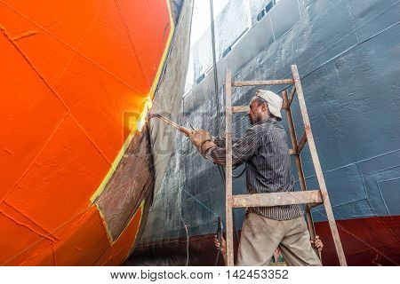 Local Workers Are Working To Repair Ship