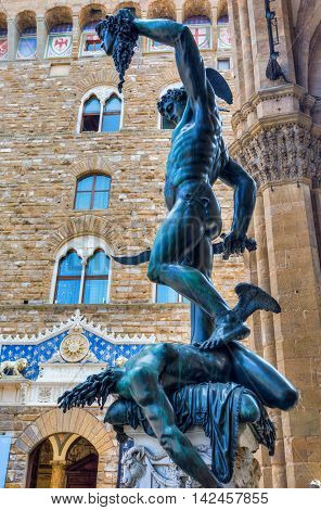 Statue Of Perseus In Florence, Italy