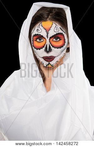 Portrait Of A Woman In White Sheet