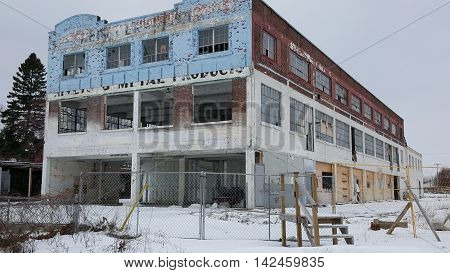 Winter at the Old Abandoned Building In Gananoque Ontario