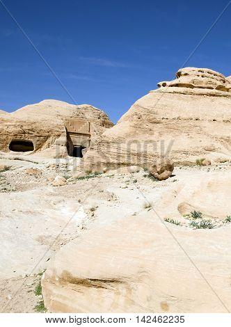 Siq canyon in Hidden city of Petra, Jordan
