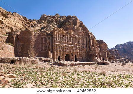 Tombs in Hidden city of Petra, Jordan
