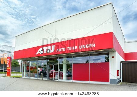 BADEN-BADEN, GERMANY - MAY 29, 2016: Auto Teile Unger STORE in the  Baden-Baden