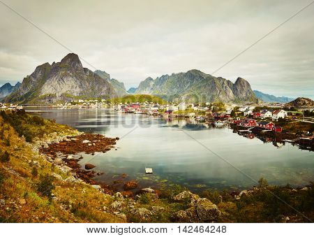Reine fishing village.  Lofoten Islands, Norway