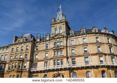 Built as the Mont Dore Hotel in 1881 the town hall is now home to Bournemouth Borough Council. England United Kingdom.