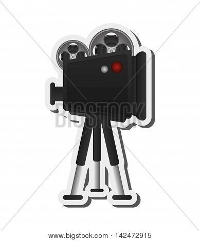 flat design film projector illustration vector illustration