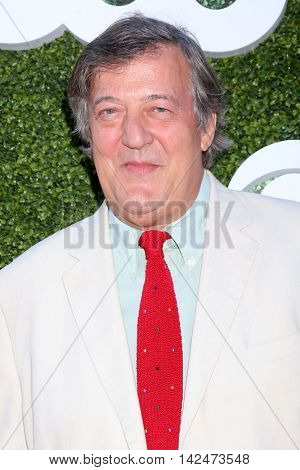 LOS ANGELES - AUG 10:  Stephen Fry at the CBS, CW, Showtime Summer 2016 TCA Party at the Pacific Design Center on August 10, 2016 in West Hollywood, CA