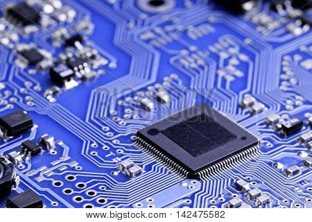 A micro chip on an electronic board