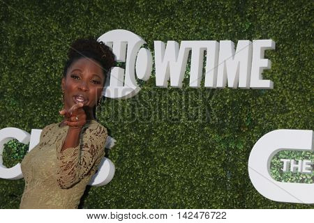 LOS ANGELES - AUG 10:  Shanola Hampton at the CBS, CW, Showtime Summer 2016 TCA Party at the Pacific Design Center on August 10, 2016 in West Hollywood, CA