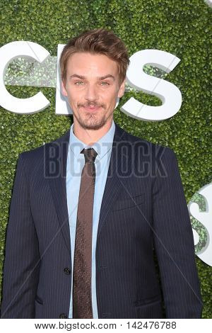 LOS ANGELES - AUG 10:  Riley Smith at the CBS, CW, Showtime Summer 2016 TCA Party at the Pacific Design Center on August 10, 2016 in West Hollywood, CA