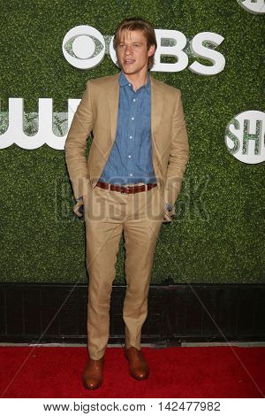LOS ANGELES - AUG 10:  Lucas Till at the CBS, CW, Showtime Summer 2016 TCA Party at the Pacific Design Center on August 10, 2016 in West Hollywood, CA